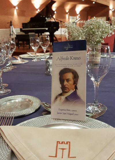 Exito del XV concierto-cena homenaje a Alfredo Kraus
