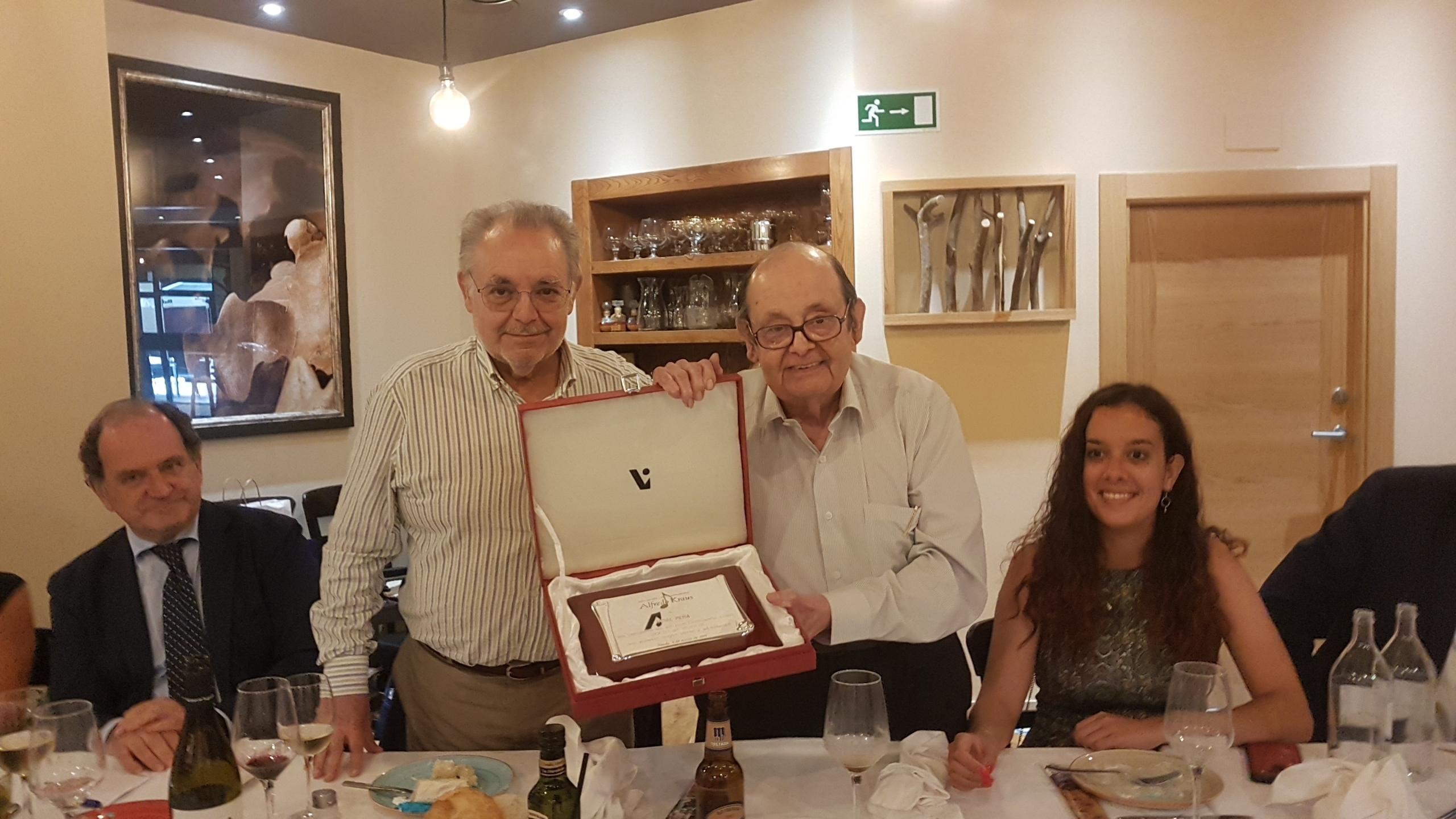 Vidal Peña nombrado Socio de Honor de nuestra entidad